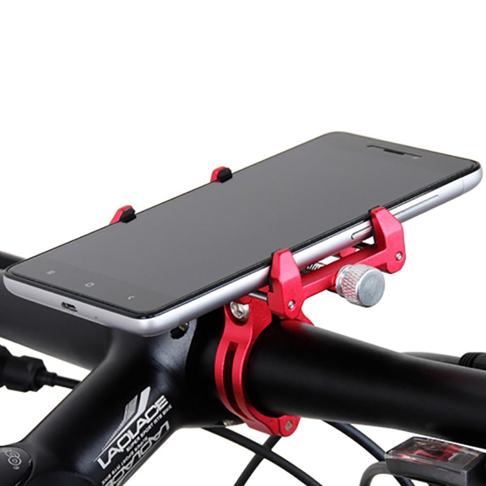 GUB G-86 G86 حامل هاتف المحمول العالمي ، حامل هاتف المحمول سبائك الألومنيوم ، حامل هاتف المحمول مع شريط مطاطي 2 أوامر