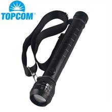 TopCom Heavy Duty Grande Polizia Torcia Della Torcia Elettrica Q5 LED Ad Alta Potente 3D Batteria di Alluminio del Metallo con il Caso Ricaricabile Changer