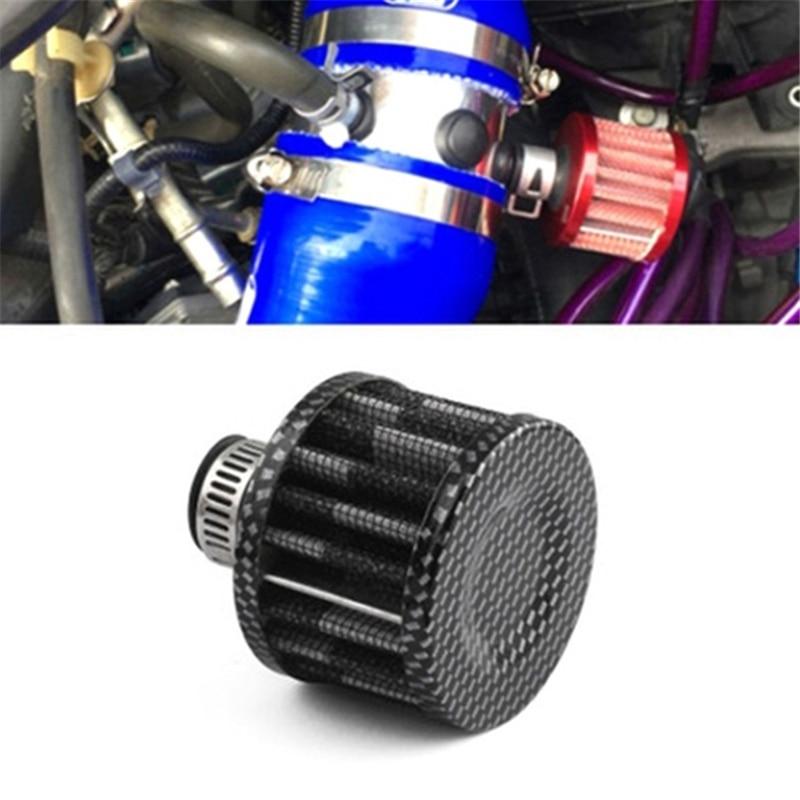 Gran oferta Interfaz Universal de filtros de aire 12mm coche cono Filtro de aire frío cárter de ventilación de Turbo respiro