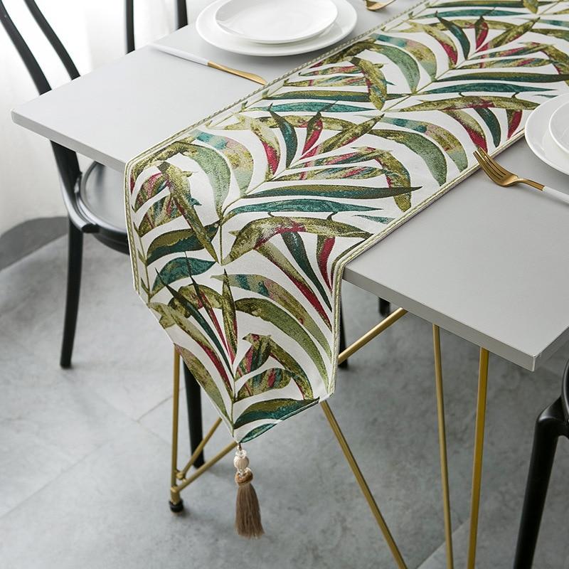 أغطية طاولة فاخرة مغلفة بأوراق الشجر ، جودة عالية ، شرابات فاخرة ، أغطية أحذية ، مفرش طاولة
