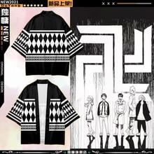Tokyo Revengers T-shirt Hanagaki Takemichi Ken Ryuguji Anime T-Shirt Polyester Summer Tees Tops Black and White Pattern Haori