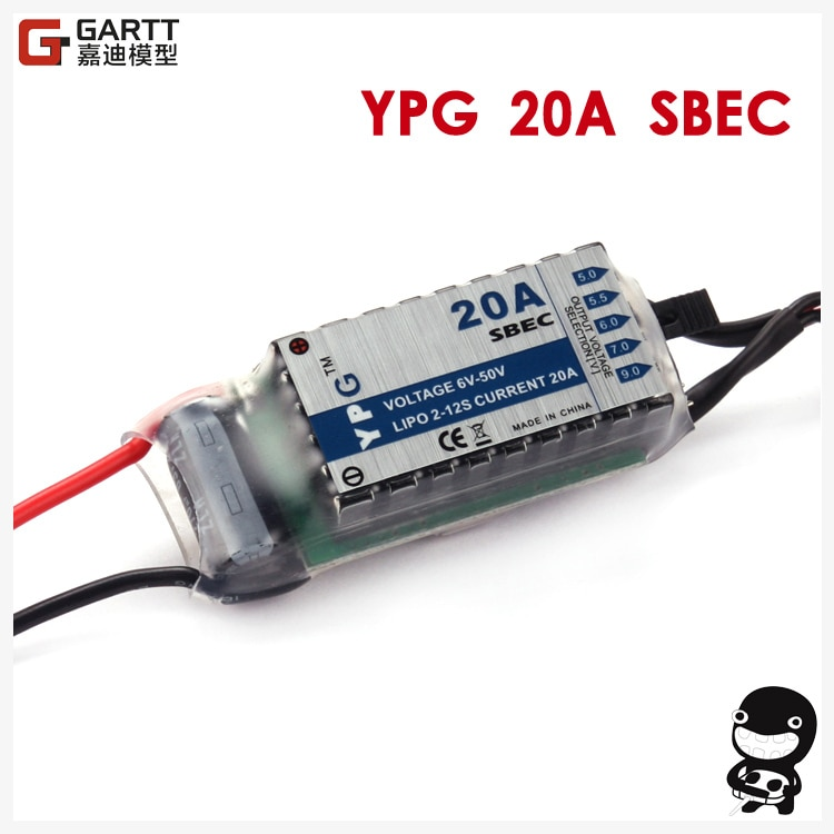 YPG 20A HV SBEC alta calidad para aeroplano modelo RC No requiere programación