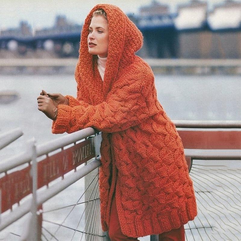 Женские свободные куртки, Модный женский плотный свитер, вязаные повседневные куртки оверсайз