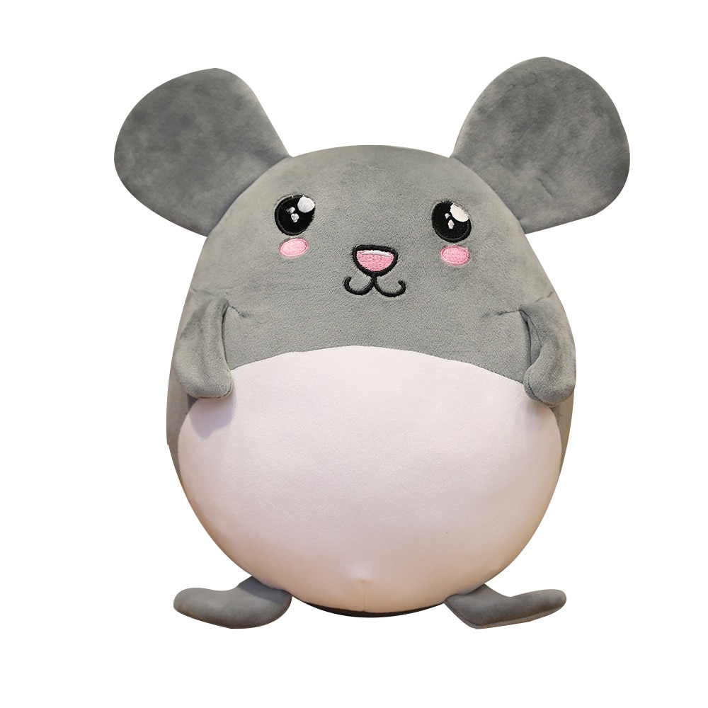 nice 1pc 35cm plush cat toys stuffed animal 1PC Nice 35-55CM Lovely Grey Rat Pillow Stuffed Animal Plush Toys For Girls Children Boys Toys Cute Mouse Dolls Birthday Gifts