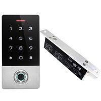 חיצוני מזהה RFID טביעות אצבע סורק קורא עם חשמלי זרוק בורג לגרז מנעול דלת Fail Safe fail מאובטח