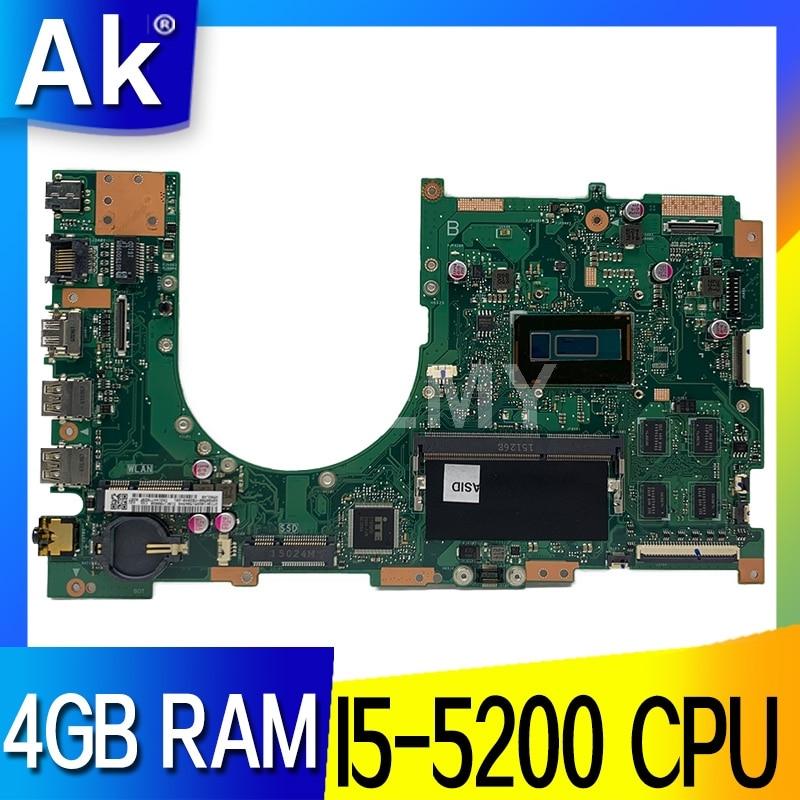 Akemy Q502LAB Q502L اللوحة الأم للكمبيوتر المحمول ث/I5-5200U 4GB-RAM لأسوس Q502LAB Q502LA Q502L اللوحة الرئيسية