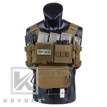 Chaleco de portador militar con bolsa de revista para caza Airsoft con plataforma para pecho de tipo cofre de tipo ROM MK3 de drote marrón Mini Ranger