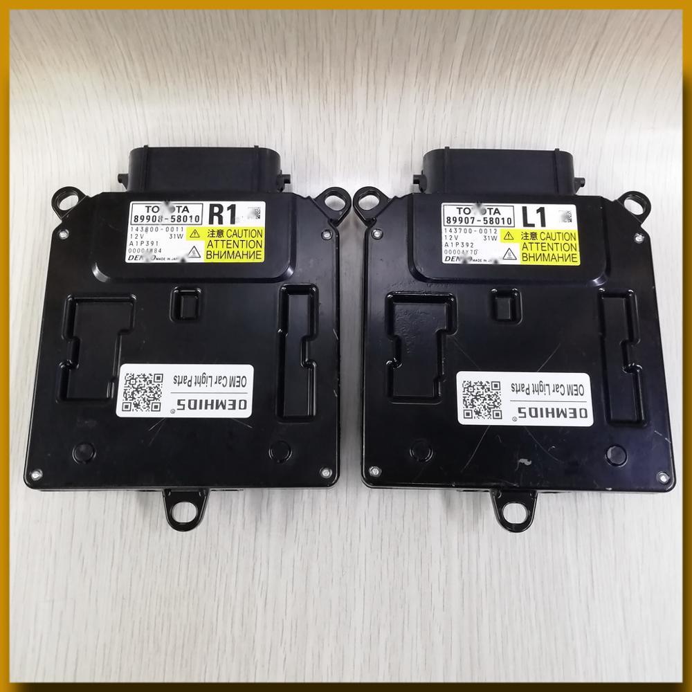 89907-58010 l1 usou 1 peça oemhids para 30 séries vellfire alphard gm18 anh30 agh30 oem conduziu a unidade de controle 89908-58010 r1 do farol