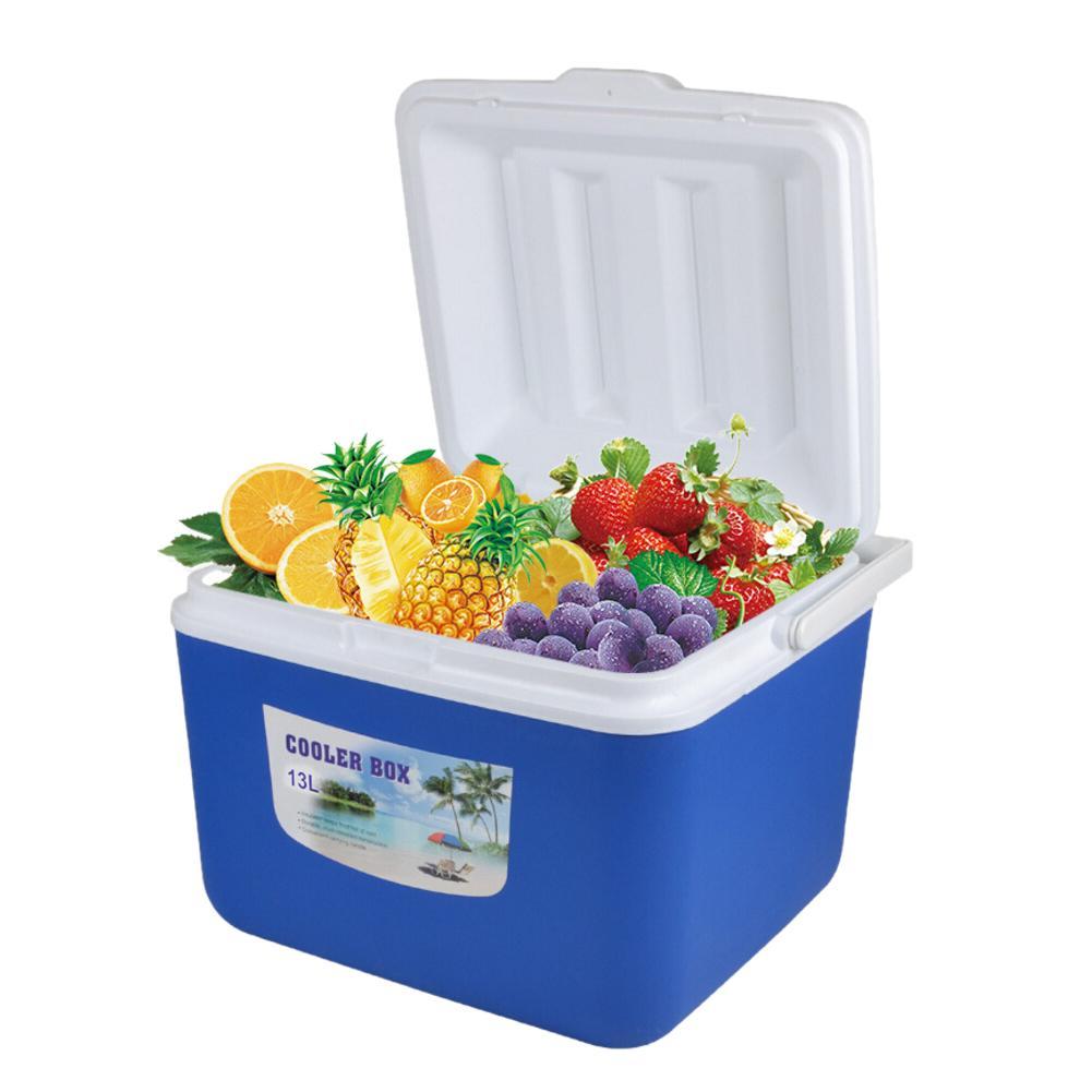 Incubadora exterior de 13l, contenedor de comida portátil, caja fría para coche, caja de pesca, nevera, caja de viaje