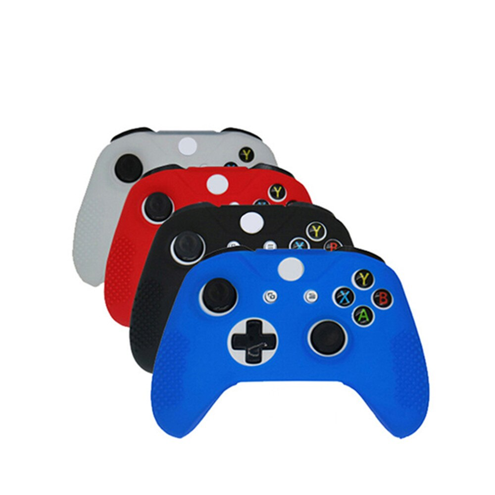 500set Silicone Protective Skin Cover Wrap Case For Xbox-One S Slim Controller With 2Pcs Thumb Sticks