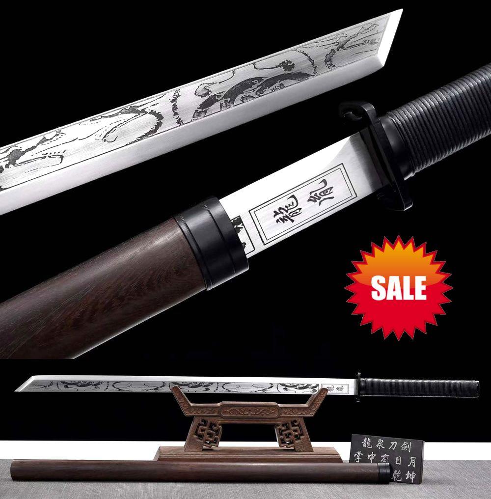 Artesanal resistente kung fu espada afiada lâmina de aço da mola tang dao katana wushu jian completa tang pode ser cortado bambu