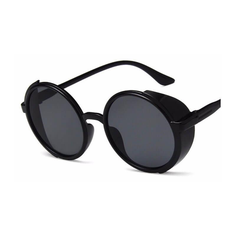 Pink Black Vintage Steampunk Sunglasses Women High Quality Summer 2021 New Sun Glasses Round Frame W