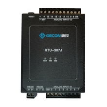 16AI analog input 4-20mA 0-10V ModbusRTU module 0.1% precision ADC acquisition transmission