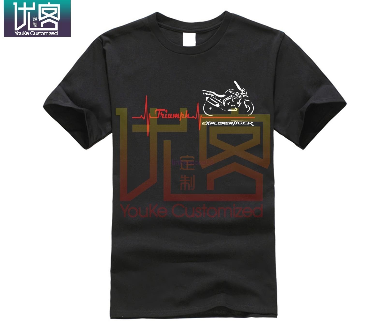 Maglia Per Moto Triumph Tiger Explorer Battito Cuore camiseta de moda para hombres camiseta Tops