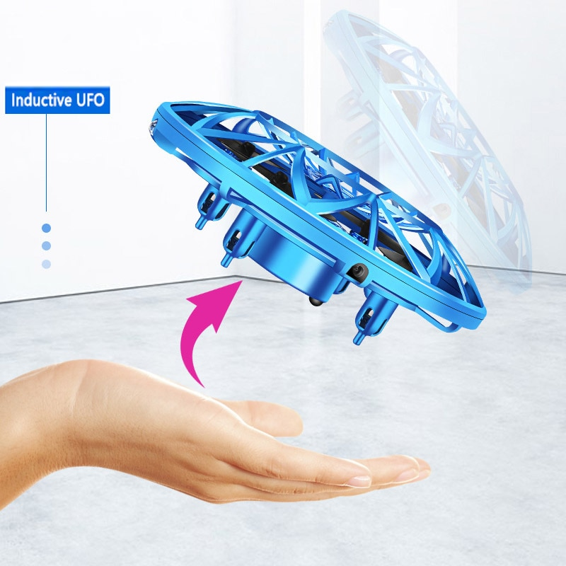 Landzo Kids Toys UFO Drone Fly Helicopter Infraed Hand Sensing Induction RC Aircraft Upgrade Quadcopter for Children,Adult Gift enlarge