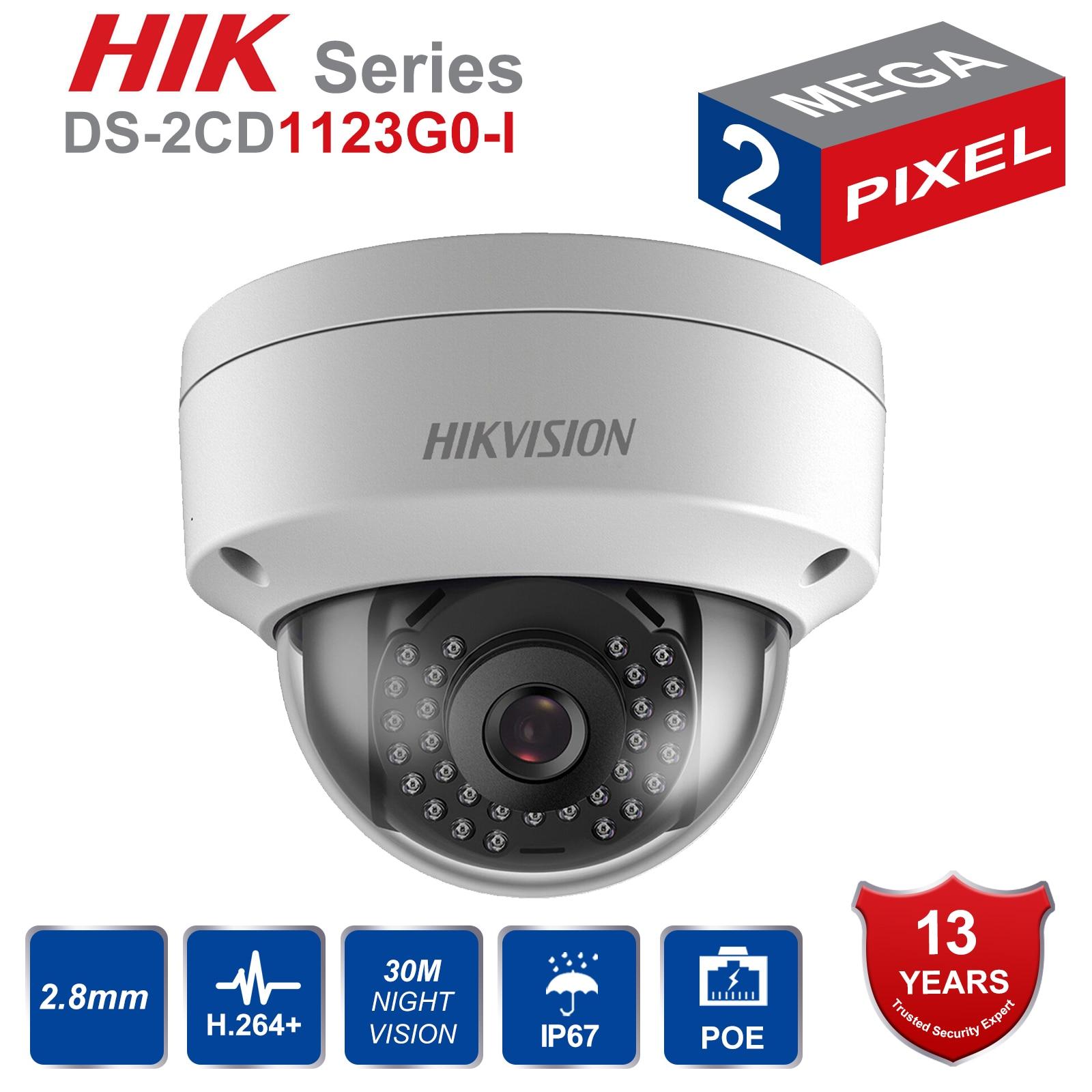 DS-2CD1123G0-I POE de 2MP, Mini cámara domo de seguridad IP IP67, cámara de red CCTV, reemplaza DS-2CD2125F-IS DS-2CD2132F-IS