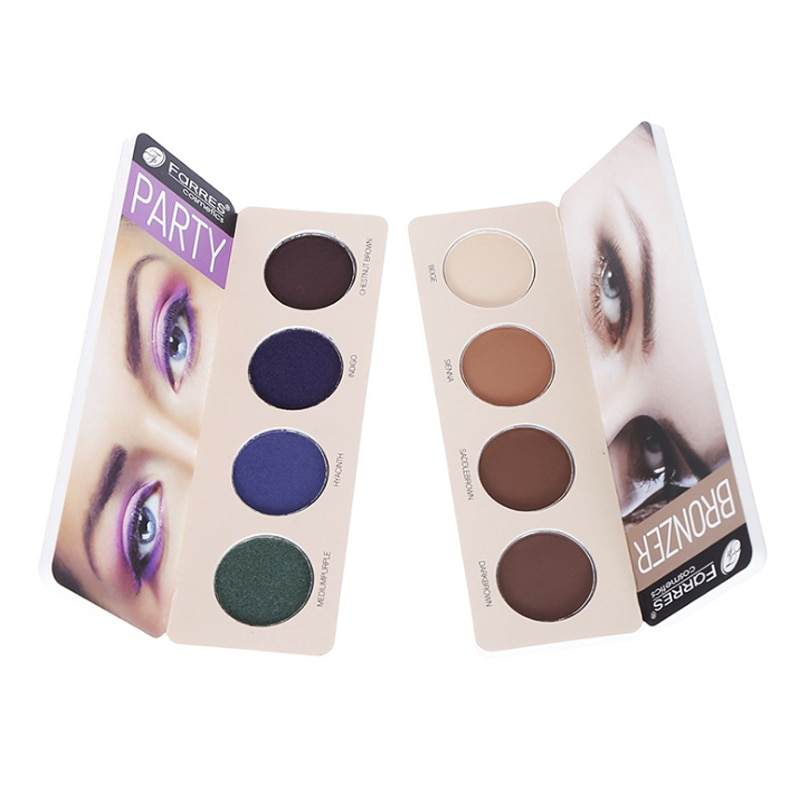 Nueva paleta de sombra de ojos ahumada de 1 pieza, 4 colores, tierra, Color Nude, Azul, Gris, púrpura, pigmento resistente al agua, sombra de ojos mate de larga duración, polvo TSLM1