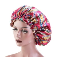 double layer adjustable sleep cap silky satin bonnet hat women beanies turban hat lady bonnet headwrap hat hair wrap accessories
