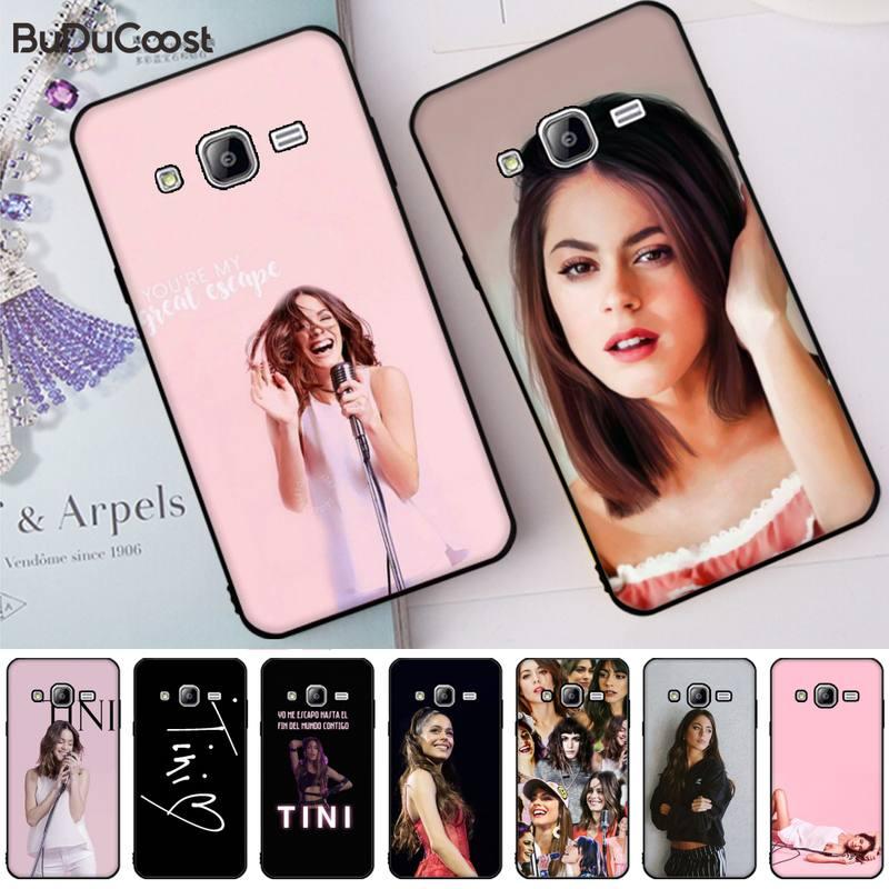 Hrmes Martina Stoessel TINI negro teléfono caso casco para Samsung Galaxy J7 J6 J8 J4 J4Plus J7 DUO J7NEO J2 J7 primer