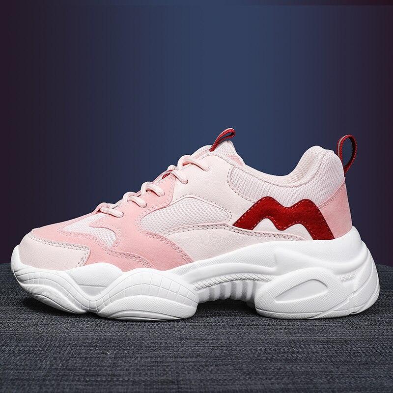Zapatos de mujer 2020, zapatillas gruesas para mujer, zapatos vulcanizados, moda Casual, papá, zapatillas con plataforma, cesta para mujer Krasovki