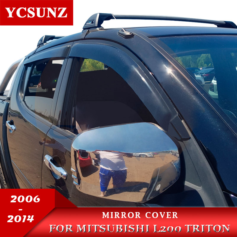 Spiegel Cover Voor Mitsubishi L200 Triton 2006 2007 2008 2009 2010 2011 2012 2013 2014 Double Cab Chrome Black Carbon fiber