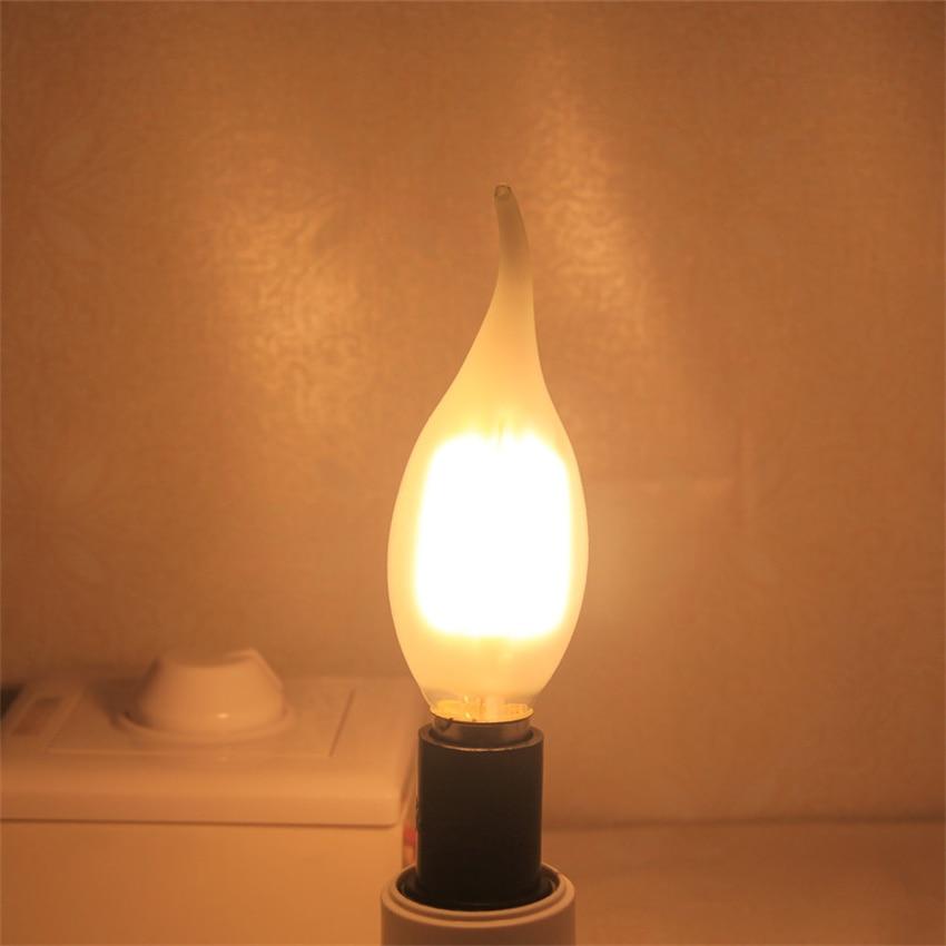 YANG MIN Free Shipping hot China CE SAA C35 c35t e14 4watt Candle light dimmable led filament led bulb light enlarge