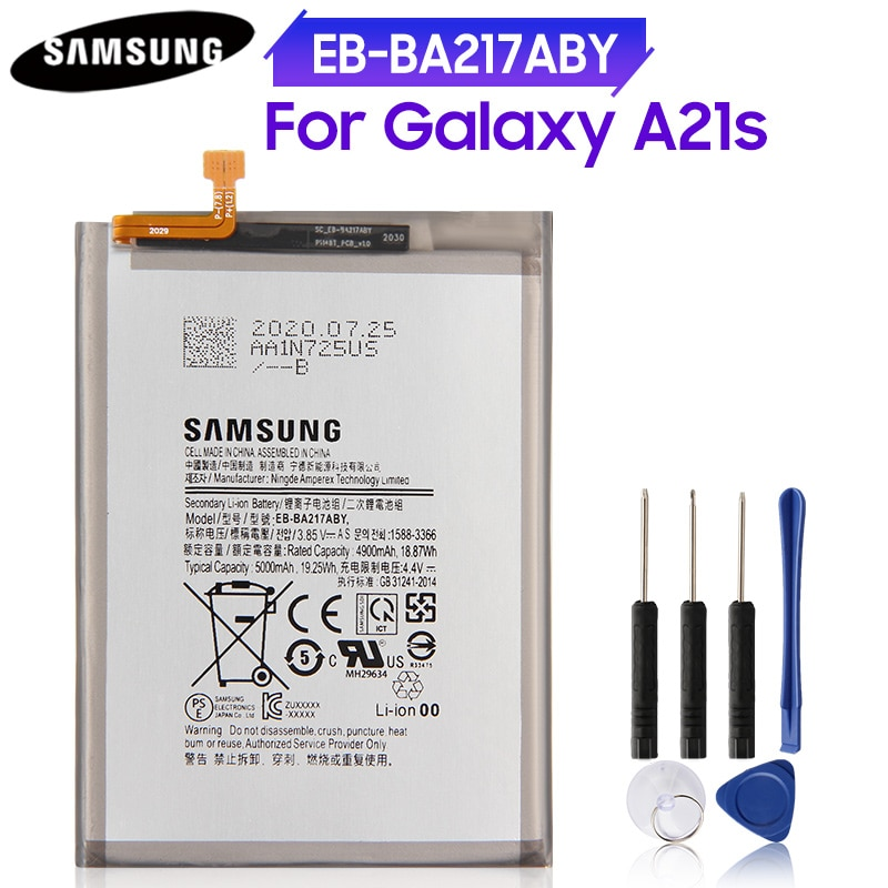 Original Phone Battery EB-BA217ABY Cover for Samsung Galaxy A21s Replacement 3501mAh-5000mAh CN(Origin)