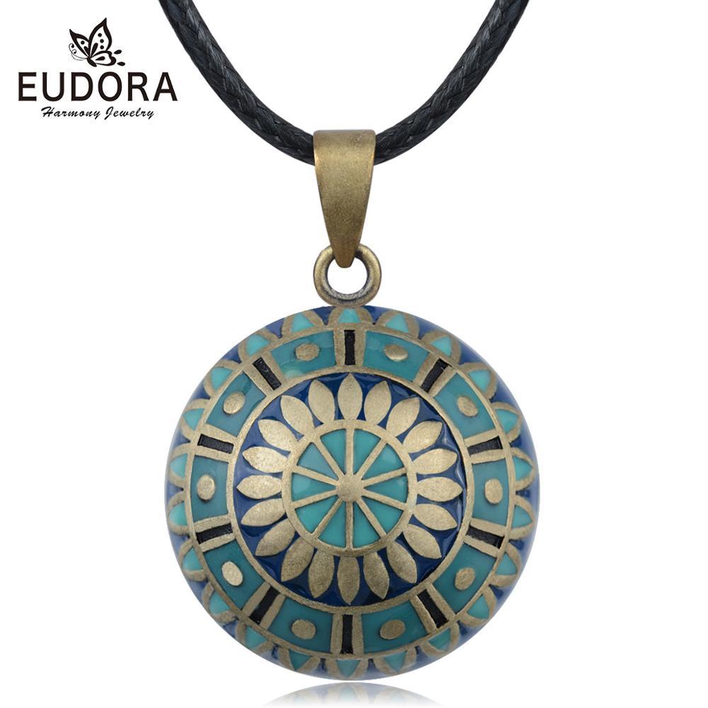 Eudora Original Harmony Pregnancy ball Necklace Pregnancy bola ball pendant with Sun Flower Luxury Jewelry for Women Shower gift