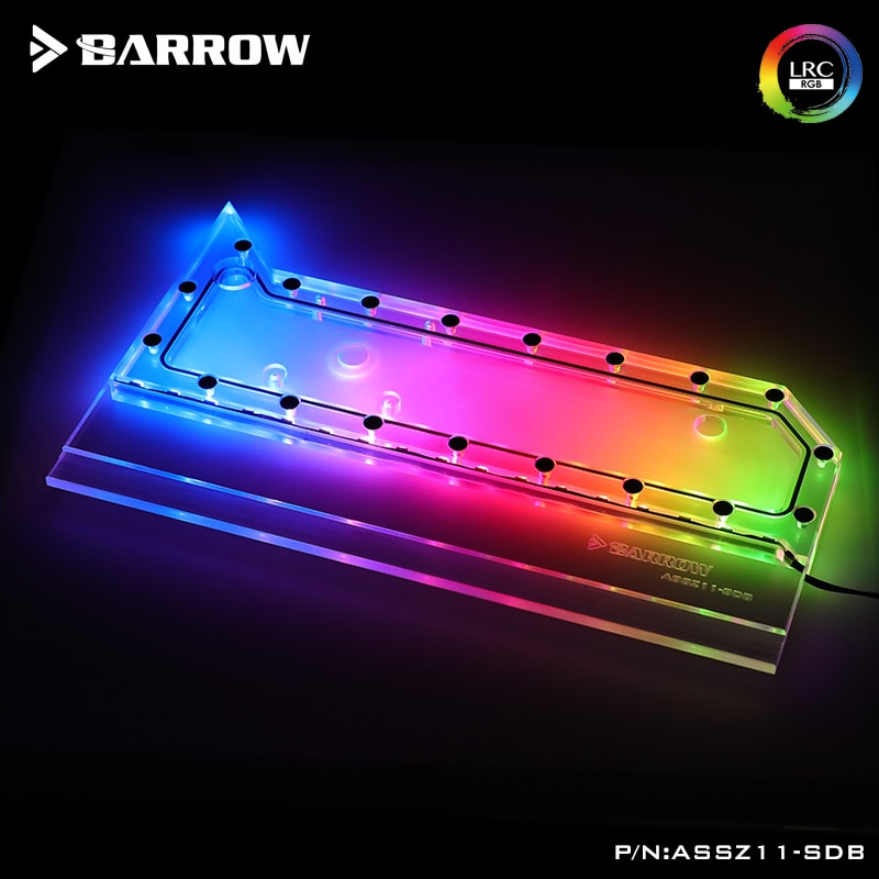 Barrow Distro Plate For ASUS Z11 Case ,For Intel CPU GPU Cooler, 5V 3Pin Water Tank PC Liquid Cooling System Custom  ASSZ11-SDB