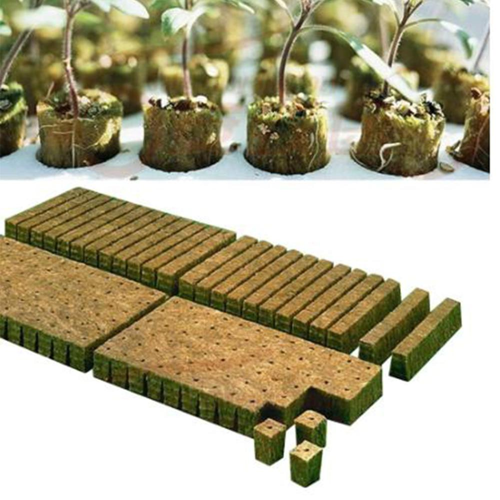 Rockwool planta starter cubo hidropônico crescer base de plantio cultivo sem solo