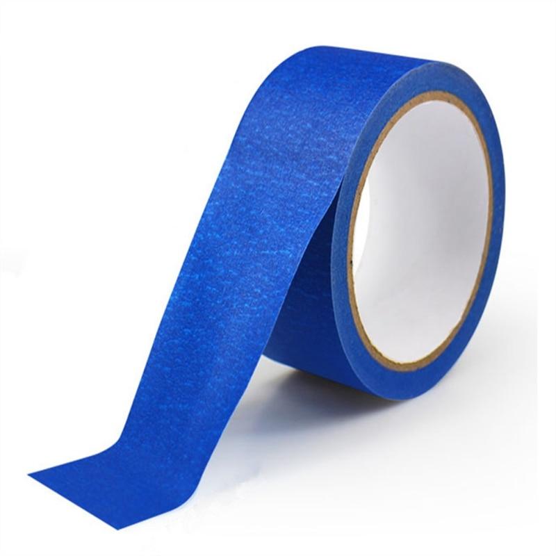Cinta adhesiva de papel azul de 30M, cinta adhesiva para pelar la casa, cinta adhesiva fácil de rasgar, dispensador de cinta adhesiva