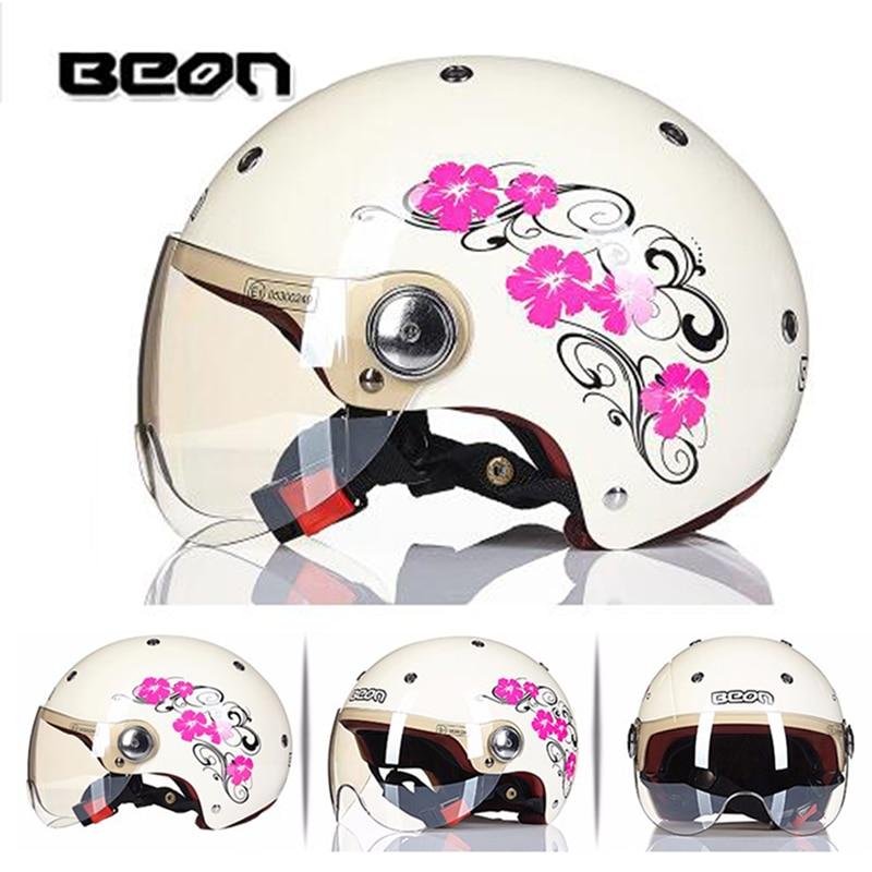 BEON-Casco para motocicleta eléctrica, protector de media cara para vehículos de bicicleta,...