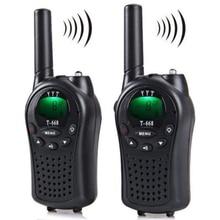 Promoción-Radio bidireccional Walkie Talkie 2 piezas T-668 de mano Auto Multi canal 5KM