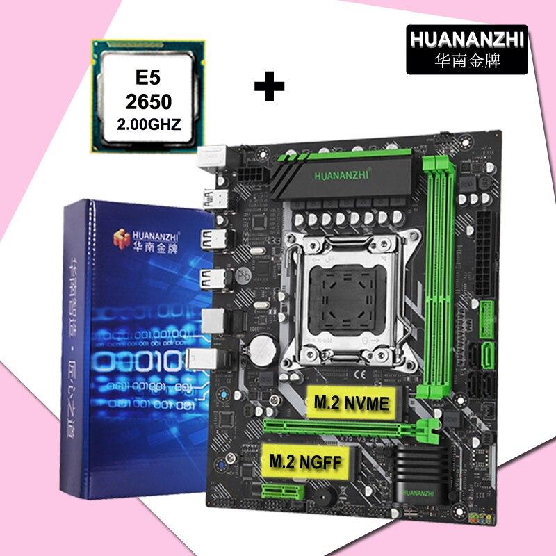لوحة الأم HUANANZHI X79 الجديدة اللوحة LGA2011 معالج وحدة المعالجة المركزية كومبو Xeon E5 2650 C2 SR0KQ يدعم ذاكرة DDR3 2*8G