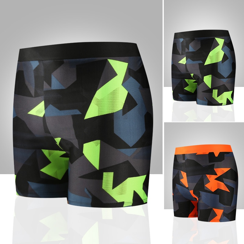 2020 New Style Swimming Trunks Korean-style Fashion Quick-Drying  Anti-Awkward Comfortable Beach Printed Swimming Trunks YK