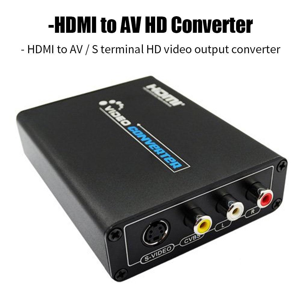 Hdmi para cvb av e s-vídeo r/l áudio conversor de vídeo adaptador 1080 p hd hdmi suporte 720 p/1080 p para pc xbox ps3 tv