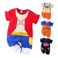 newborn 0 2 years old baby boy clothes kids frieza luffy soro costume kids boy akatsuki kakash romper anime toddler jumpsuit