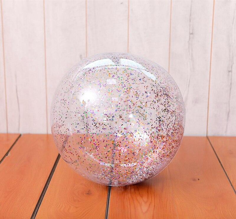 Nuevo inflable de una pieza, transparente, pelota de juego, piscina, entretenimiento, lentejuelas, purpurina, pelota de playa, agua, niños, niñas, Juguetes Divertidos