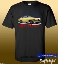 Camiseta Cool Man 1955 Alfa Romeo 19000c Ss Logo negro Camiseta cuello redondo camisetas divertidas camiseta novedad Mujer