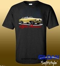 Men T shirt Cool Man 1955 Alfa Romeo 19000c Ss Logo Black T Shirt O Neck Tops funny t-shirt novelty tshirt women