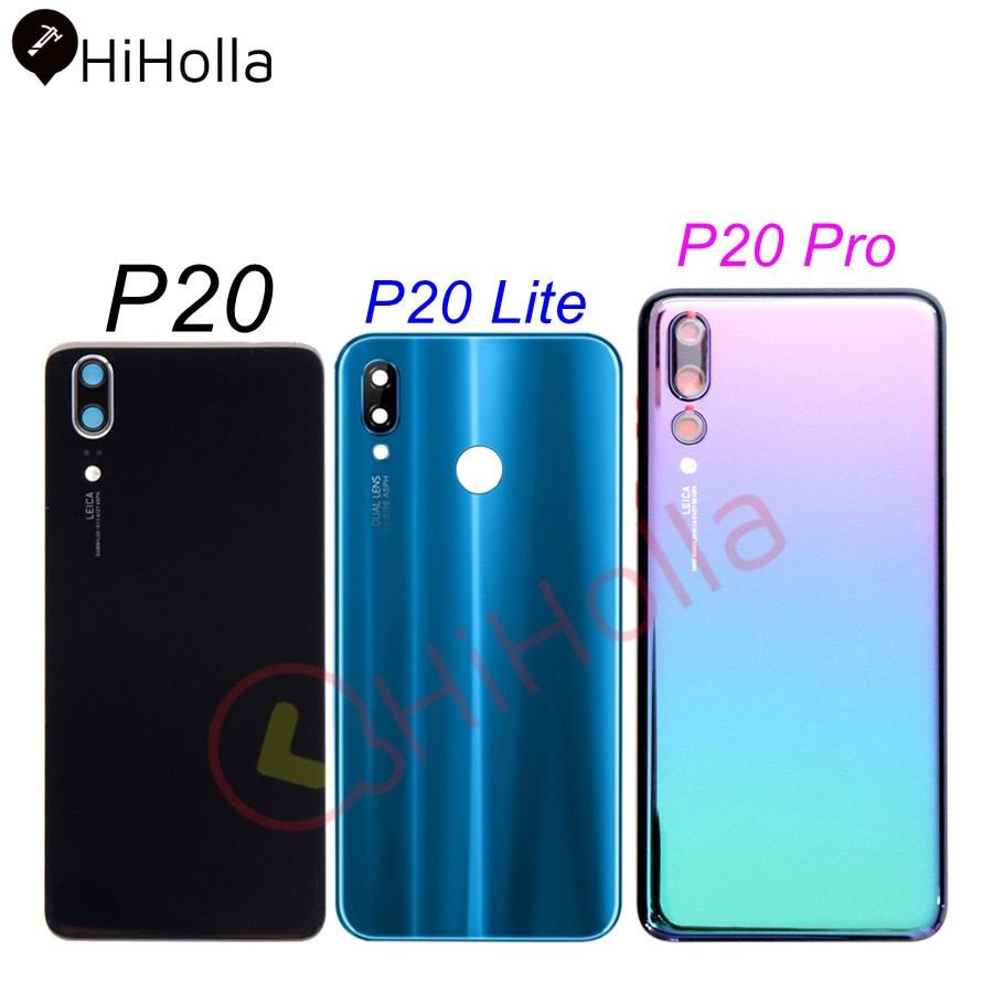 For Huawei P20 Pro Battery Cover Back Glass Panel P20 Lite Rear Door Housing Case For Huawei P20 Bat