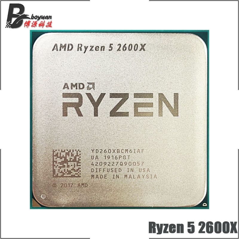 AMD Ryzen 5 2600X R5 2600X 3,6 GHz Six-Core 12-Hilo de 95W CPU procesador YD260XBCM6IAF hembra AM4