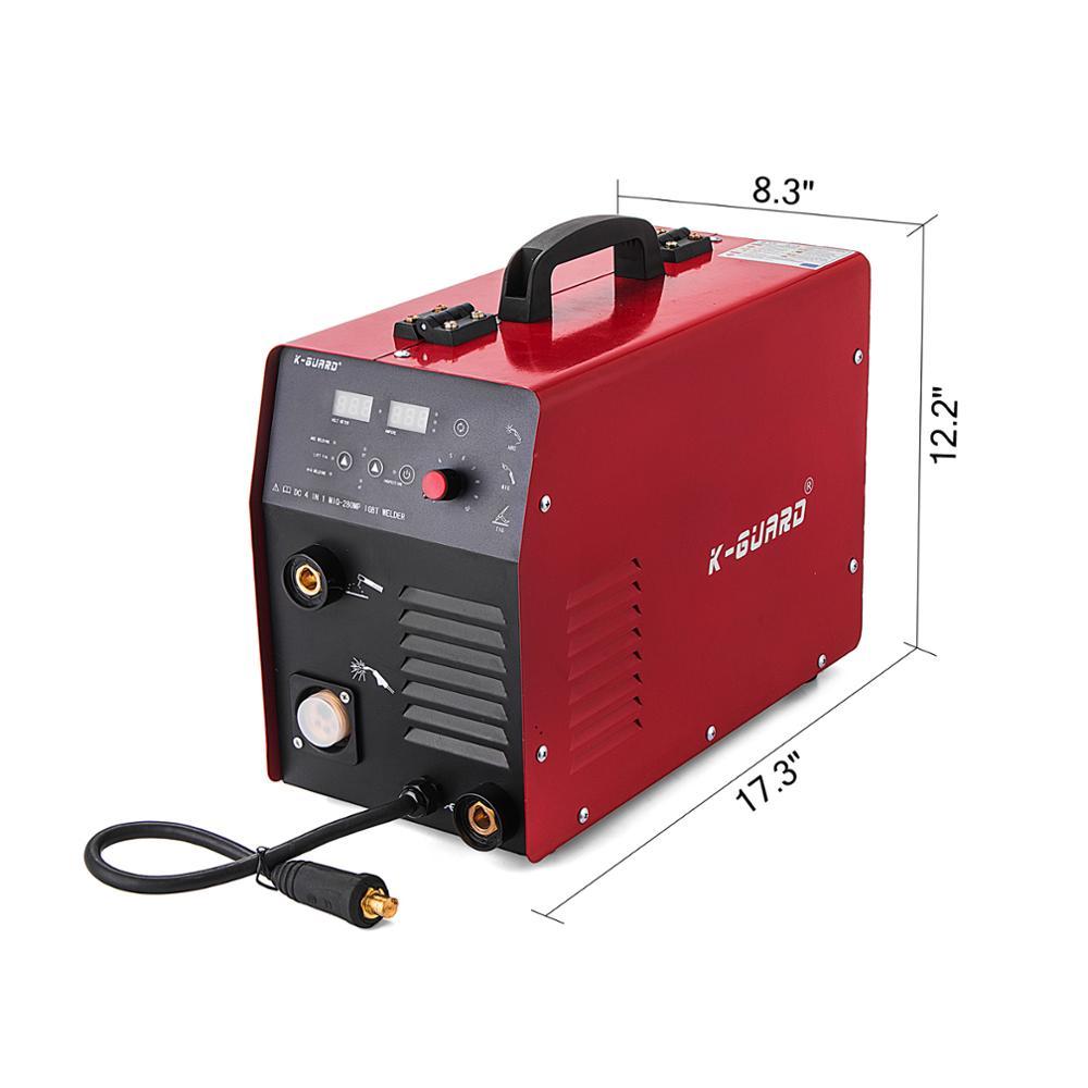 Vevor-280A Inverter Welder MIG MAG MMA ، سلك كهربائي مستمر ، شحن مجاني إلى الاتحاد الأوروبي