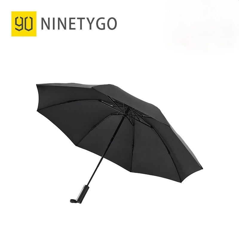 NINETYGO مشمس مظلة التلقائي بالكامل عكس للطي الإضاءة مظلة الكبار المضادة للأشعة فوق البنفسجية المطر يندبروف المحمولة شمسية شاطئ