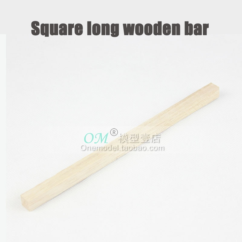 M./-5 uds. Barra de madera larga cuadrada 10x10x100mm/10x10x200mm/accesorios de bricolaje de ala fija/barra de madera ligera de montaje del Motor
