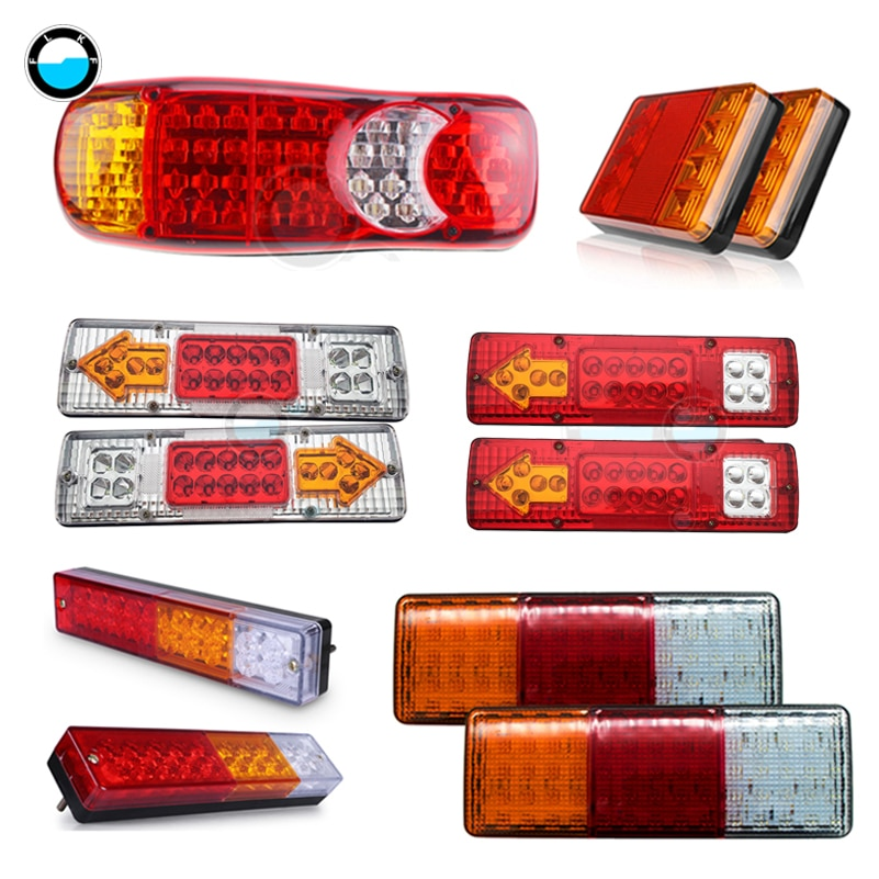 2Pcs Waterproof Car 8 19 20 30 46 72LED Tail Light Rear Lamps Pair Boat Trailer 12V/24V Rear Parts F