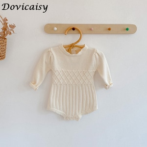 Knitted Baby Romper Sweater Winter Newborn Baby Clothes Toddler Sweater Baby Girl Romper Cotton Baby Girl Boy Clothes