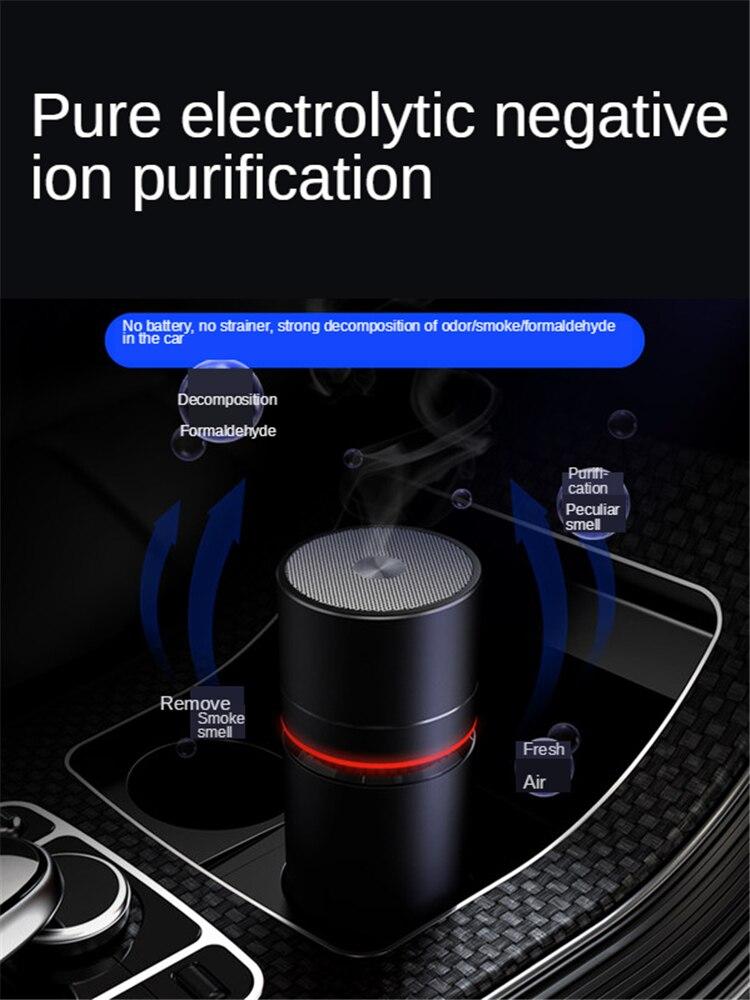 Purificador de aire E-FOUR para coche con filtro HEPA auténtico, limpiador de sistema de filtración con Panel táctil silencioso en el dormitorio para fumadores domésticos de coche