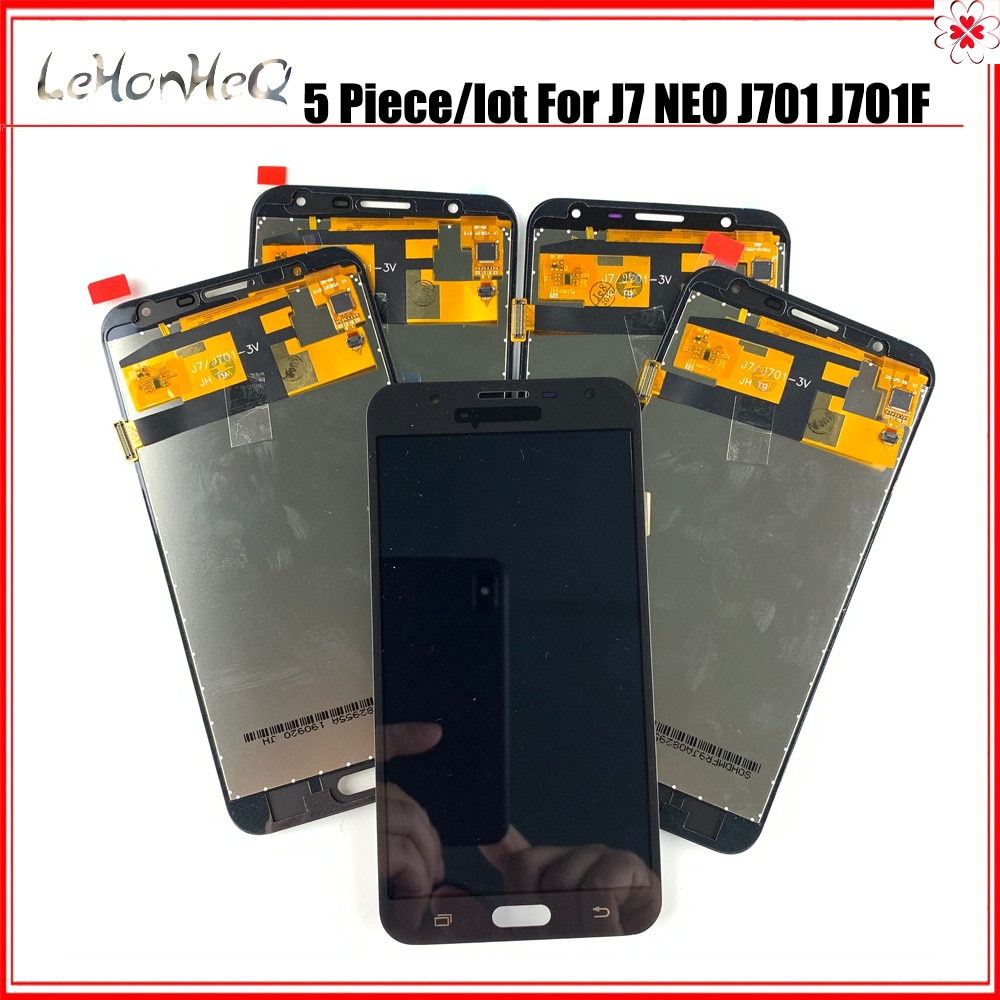 5 unid/lote puede ajustar hierro TFT LCD para Samsung Galaxy J7 NEO J701 J701F J701M J701H LCD pantalla táctil digitalizador Asamblea