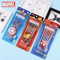 disney marvel captain america pencil hexagonal log pencil with rubber spiderman pencil kindergarten pupils writing hb pencil